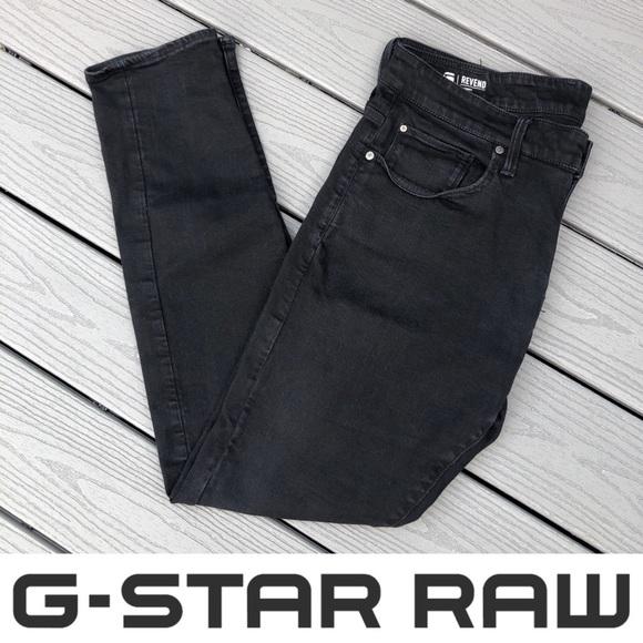 G-Star Revend Black Skinny Jeans